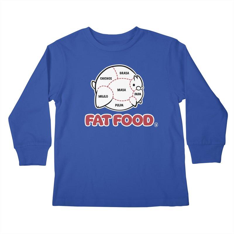 FAT FOOD Kids Longsleeve T-Shirt by Tripleta Gourmet Clothing