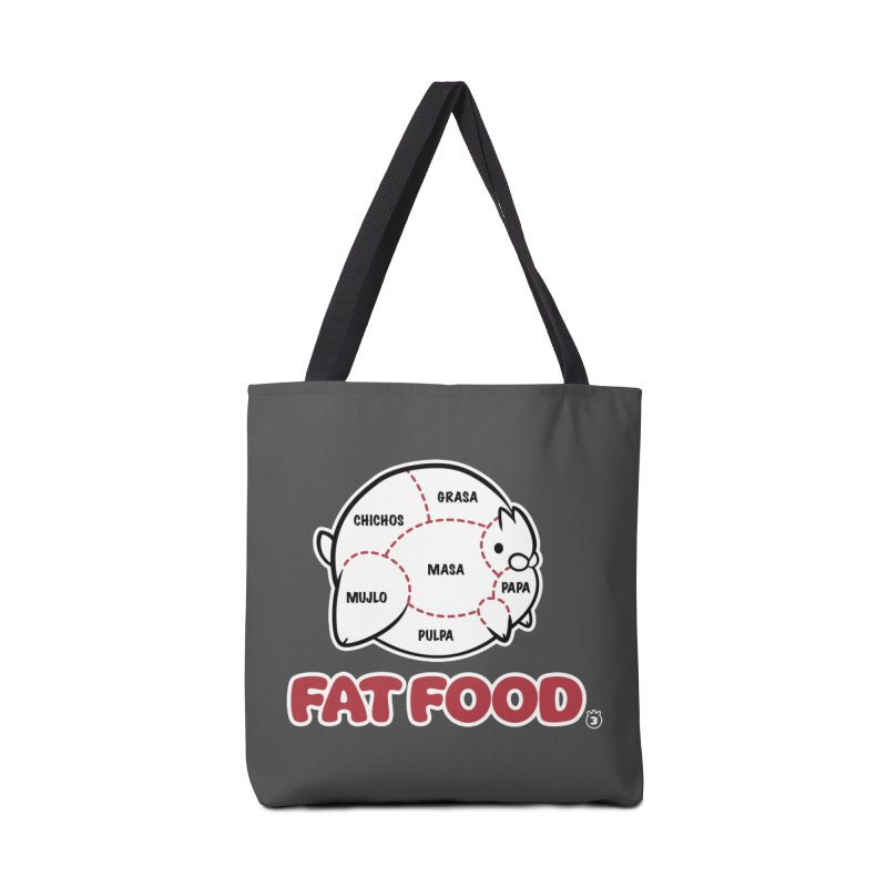 FAT FOOD Accessories Tote Bag Bag by Tripleta Studio Shop