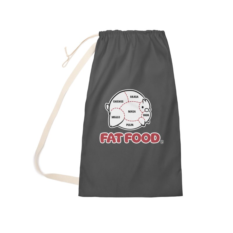 FAT FOOD Accessories Laundry Bag Bag by Tripleta Studio Shop