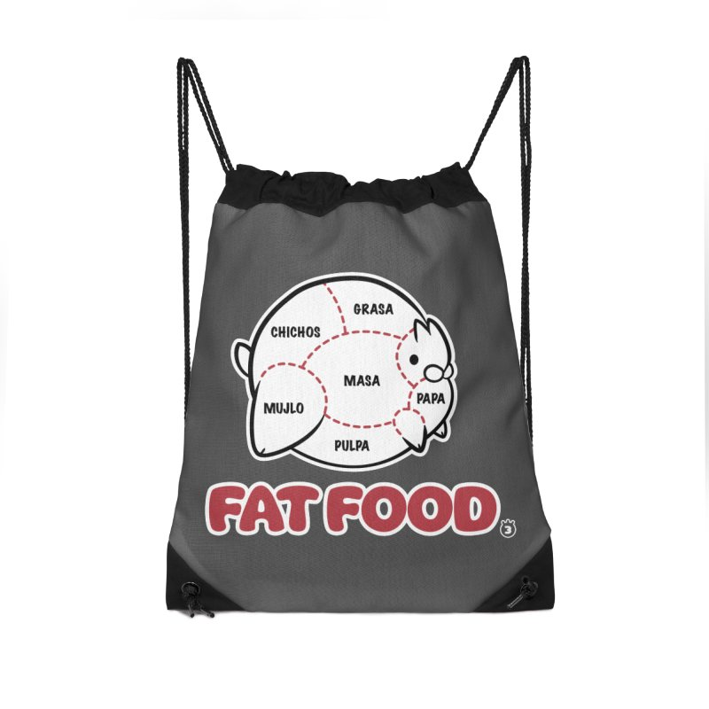 FAT FOOD Accessories Drawstring Bag Bag by Tripleta Studio Shop