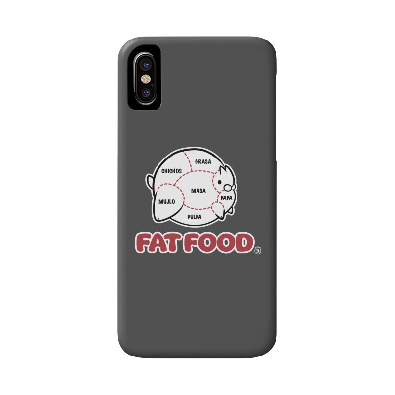 FAT FOOD Accessories Phone Case by Tripleta Gourmet Clothing