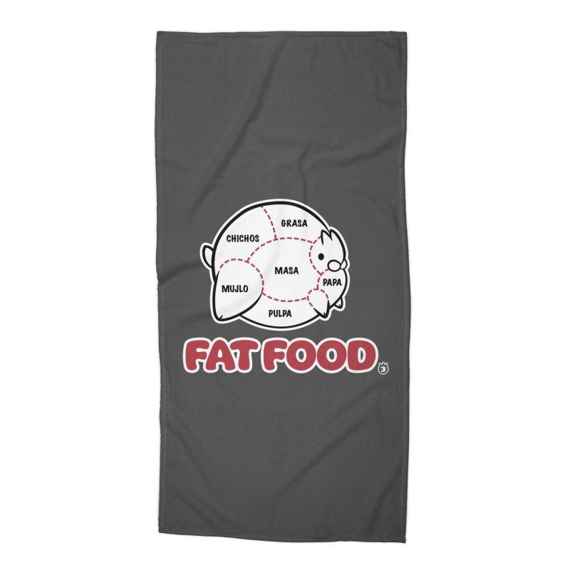 FAT FOOD Accessories Beach Towel by Tripleta Gourmet Clothing