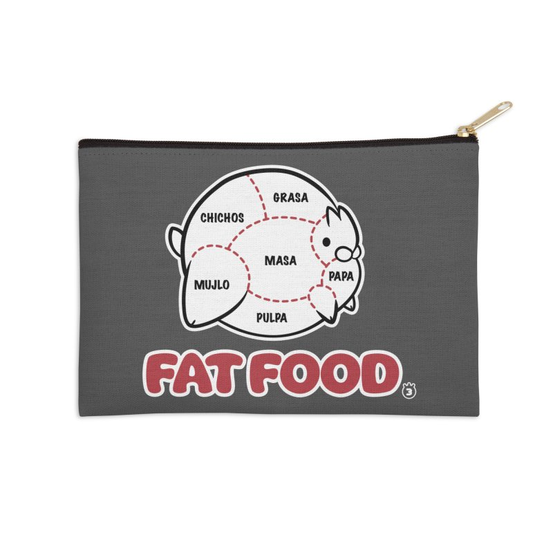 FAT FOOD Accessories Zip Pouch by Tripleta Gourmet Clothing
