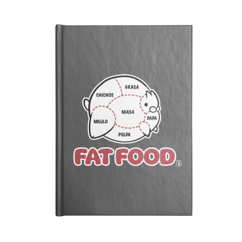 FAT FOOD Accessories Blank Journal Notebook by Tripleta Studio Shop