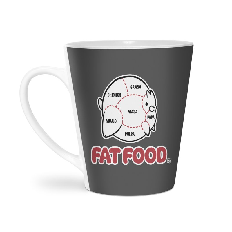 FAT FOOD Accessories Latte Mug by Tripleta Studio Shop