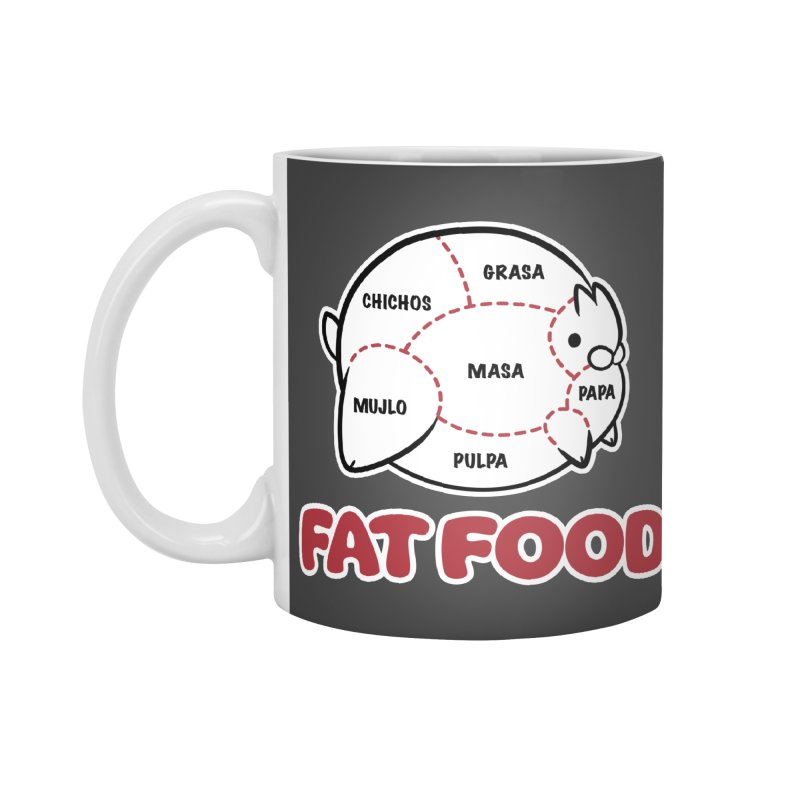 FAT FOOD Accessories Mug by Tripleta Gourmet Clothing
