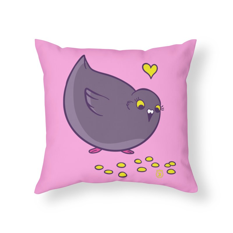 GOGO CORN Home Throw Pillow by Tripleta Gourmet Clothing