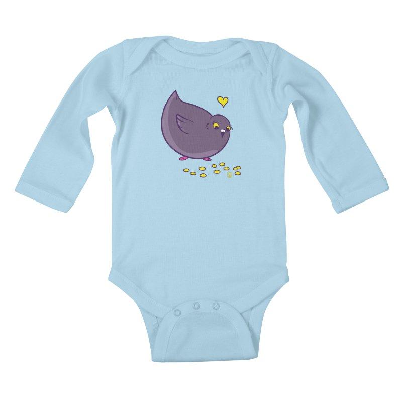 GOGO CORN Kids Baby Longsleeve Bodysuit by Tripleta Gourmet Clothing