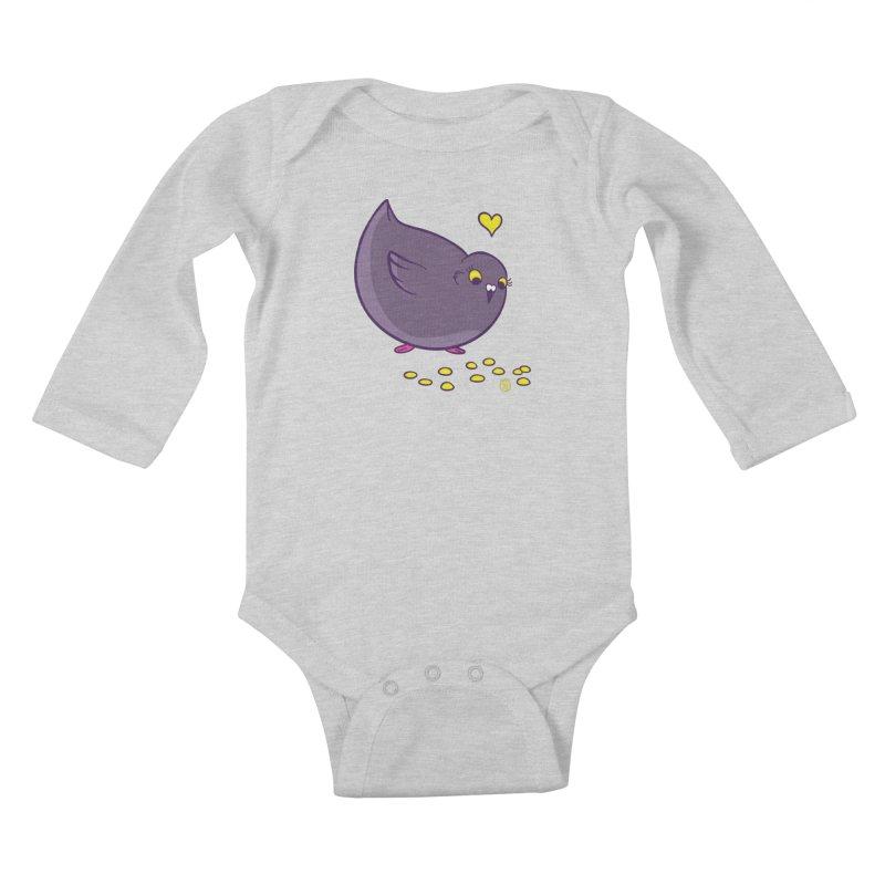 GOGO CORN Kids Baby Longsleeve Bodysuit by Tripleta Studio Shop