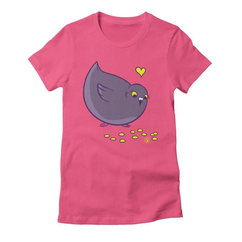 GOGO CORN Women's Fitted T-Shirt by Tripleta Gourmet Clothing