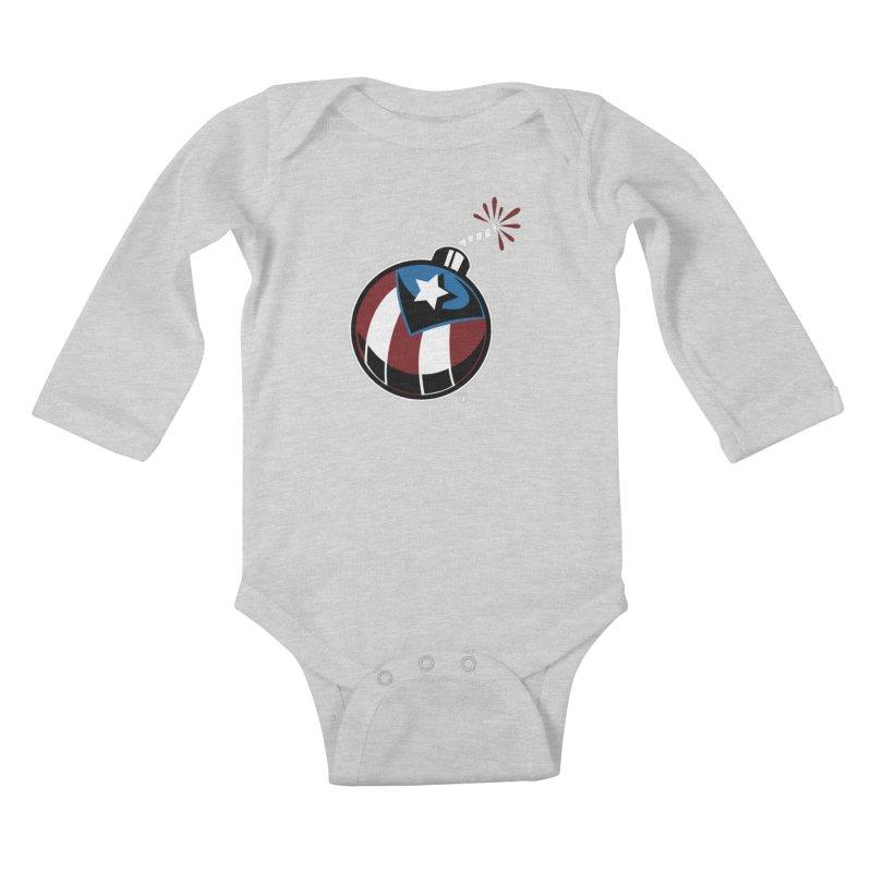LA BOMBA Kids Baby Longsleeve Bodysuit by Tripleta Gourmet Clothing