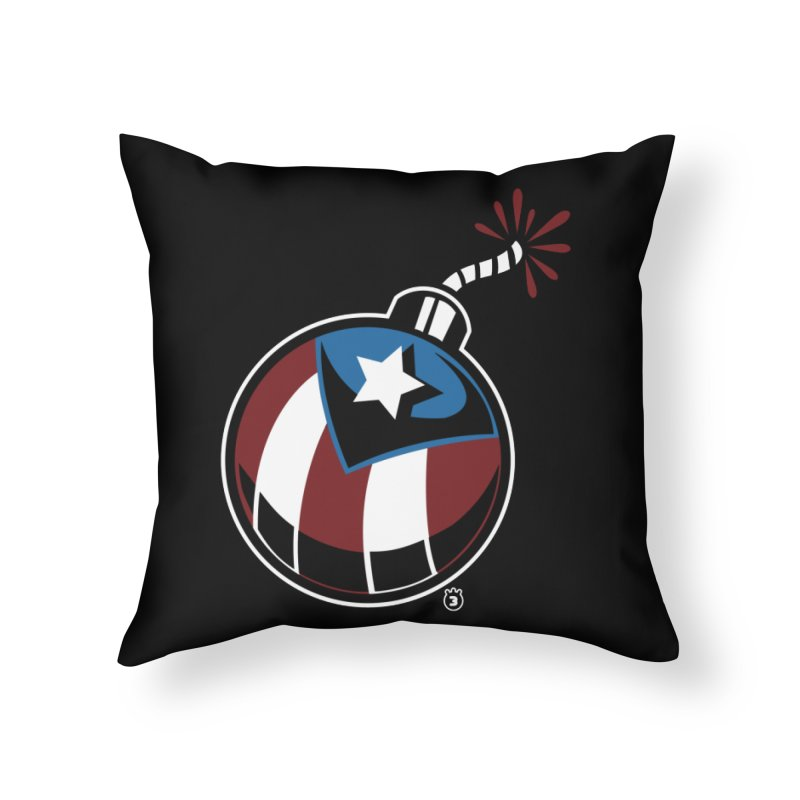 LA BOMBA Home Throw Pillow by Tripleta Gourmet Clothing
