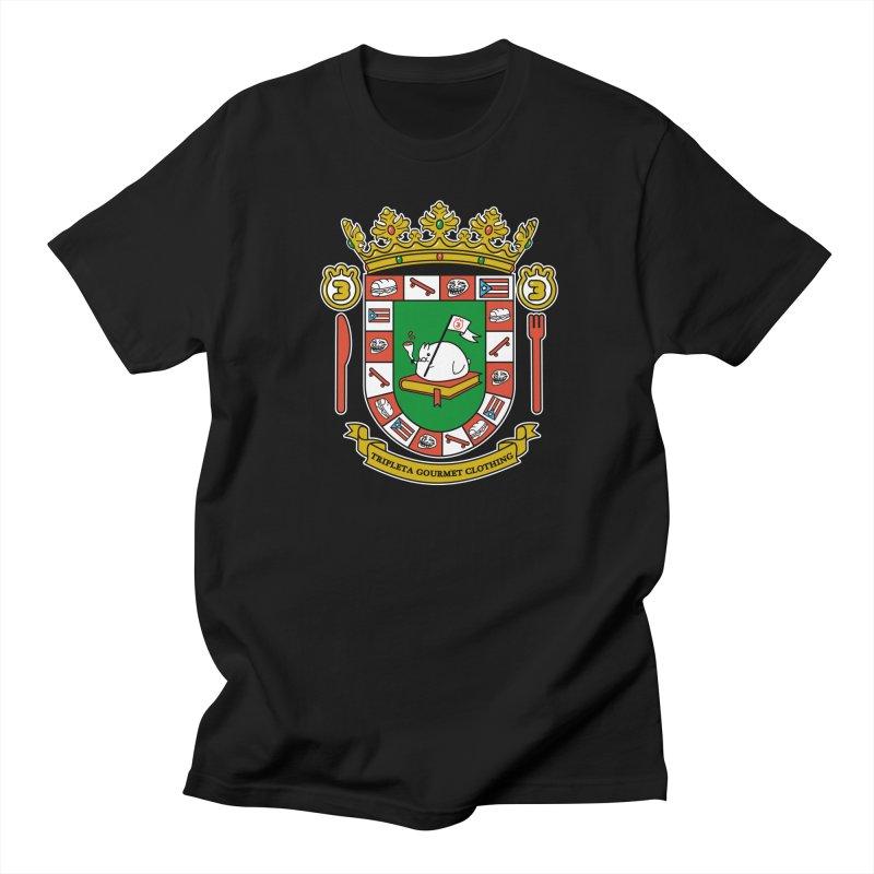 ESCUDO in Men's Regular T-Shirt Black by Tripleta Studio Shop