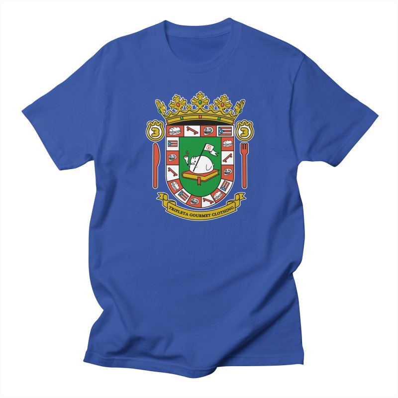 ESCUDO in Men's Regular T-Shirt Royal Blue by Tripleta Studio Shop