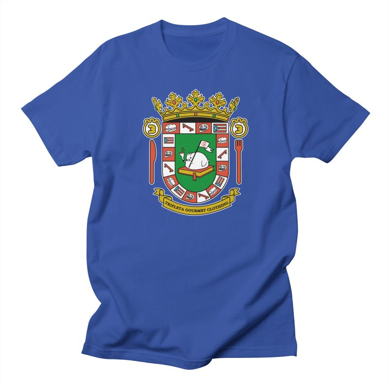 ESCUDO in Men's Regular T-Shirt Royal Blue by Tripleta Gourmet Clothing