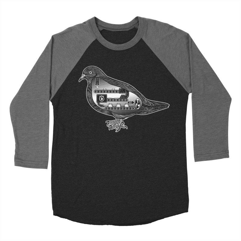 POOP FACTORY Men's Baseball Triblend T-Shirt by Tripleta Gourmet Clothing