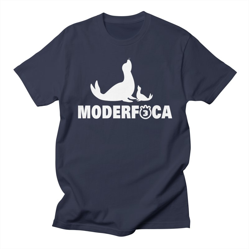 MODERFOCA in Men's Regular T-Shirt Navy by Tripleta Gourmet Clothing