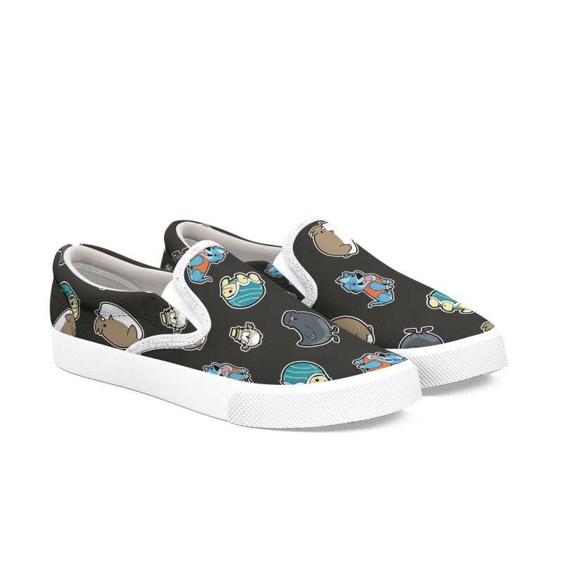 WABBAPALS PATTERN in Women's Slip-On Shoes by Tripleta Gourmet Clothing