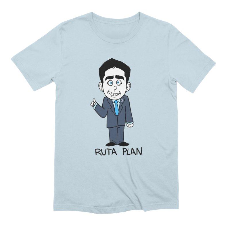 RUTA PLAN in Men's Extra Soft T-Shirt Baby Blue by Tripleta Gourmet Clothing