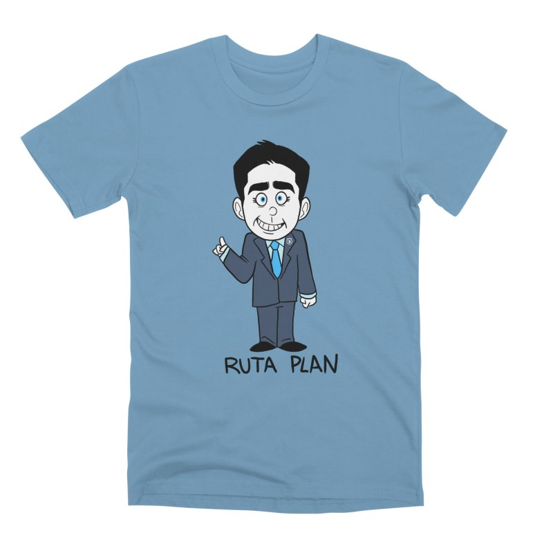 RUTA PLAN in Men's Premium T-Shirt Steel Blue by Tripleta Studio Shop