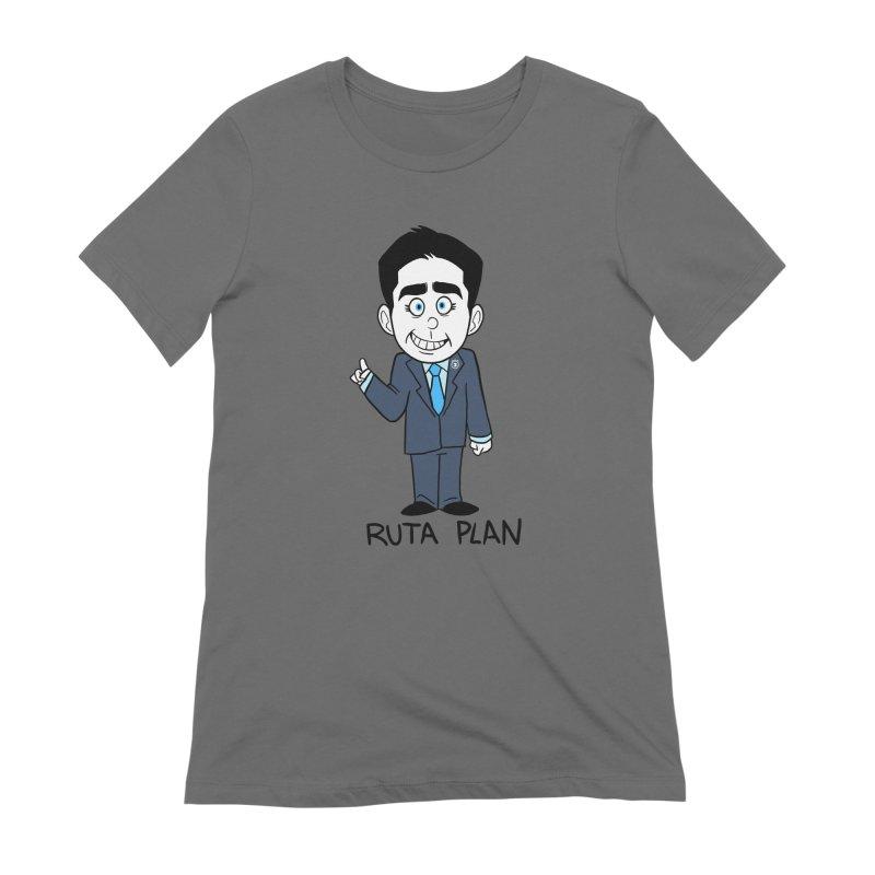 RUTA PLAN Women's Extra Soft T-Shirt by Tripleta Gourmet Clothing
