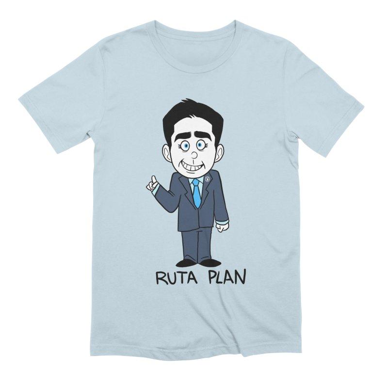 RUTA PLAN Men's Extra Soft T-Shirt by Tripleta Gourmet Clothing