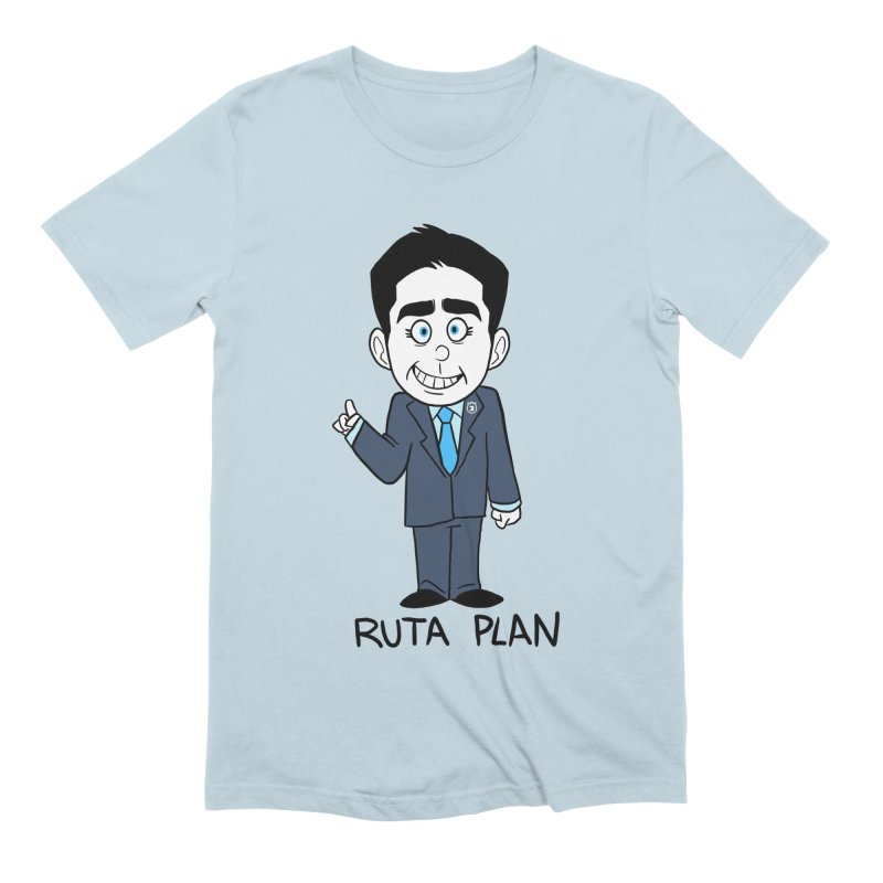 RUTA PLAN in Men's Extra Soft T-Shirt Baby Blue by Tripleta Studio Shop