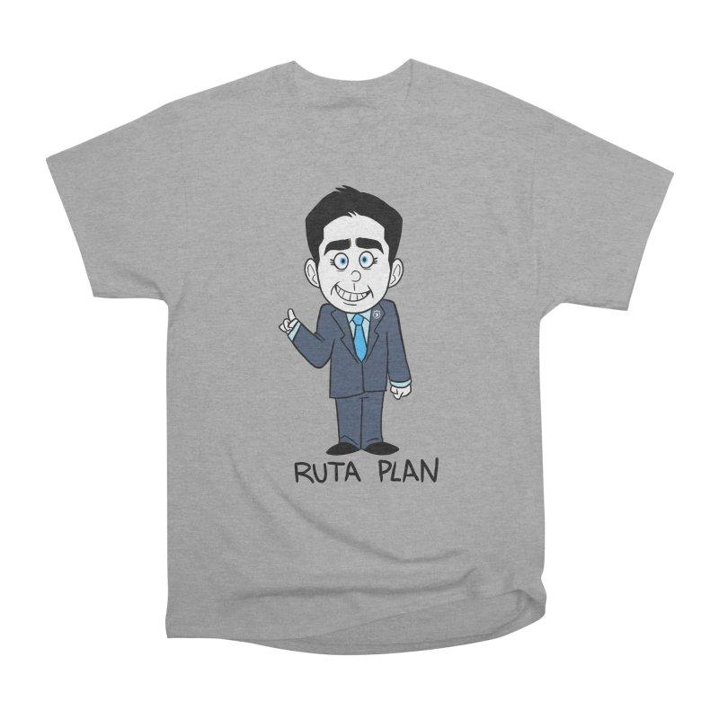 RUTA PLAN Men's Heavyweight T-Shirt by Tripleta Gourmet Clothing