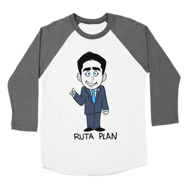 RUTA PLAN Women's Baseball Triblend Longsleeve T-Shirt by Tripleta Gourmet Clothing