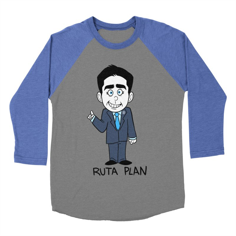 RUTA PLAN Men's Baseball Triblend Longsleeve T-Shirt by Tripleta Studio Shop