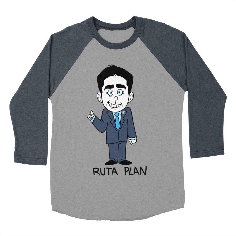 RUTA PLAN Men's Baseball Triblend Longsleeve T-Shirt by Tripleta Gourmet Clothing
