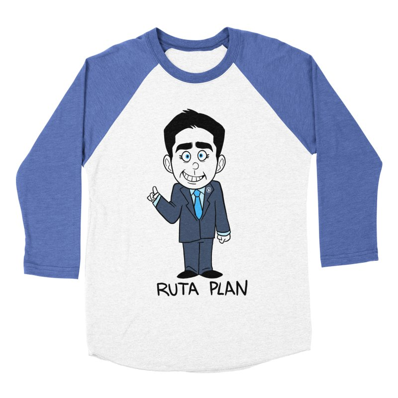 RUTA PLAN Men's Baseball Triblend Longsleeve T-Shirt by Tripleta Studio Shop