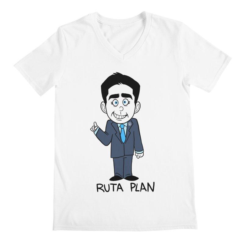 RUTA PLAN Men's Regular V-Neck by Tripleta Gourmet Clothing