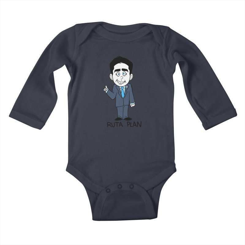RUTA PLAN Kids Baby Longsleeve Bodysuit by Tripleta Studio Shop