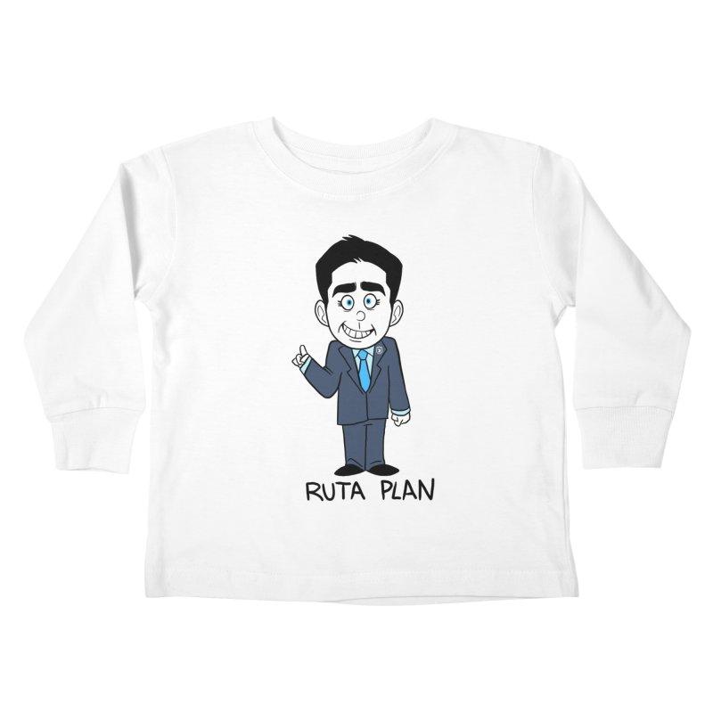 RUTA PLAN Kids Toddler Longsleeve T-Shirt by Tripleta Studio Shop