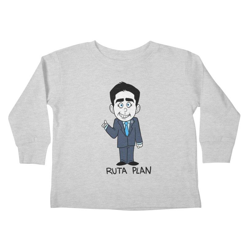 RUTA PLAN Kids Toddler Longsleeve T-Shirt by Tripleta Gourmet Clothing