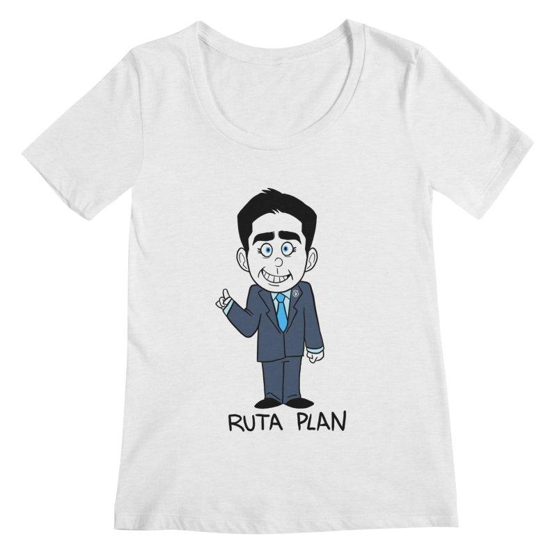 RUTA PLAN Women's Regular Scoop Neck by Tripleta Gourmet Clothing