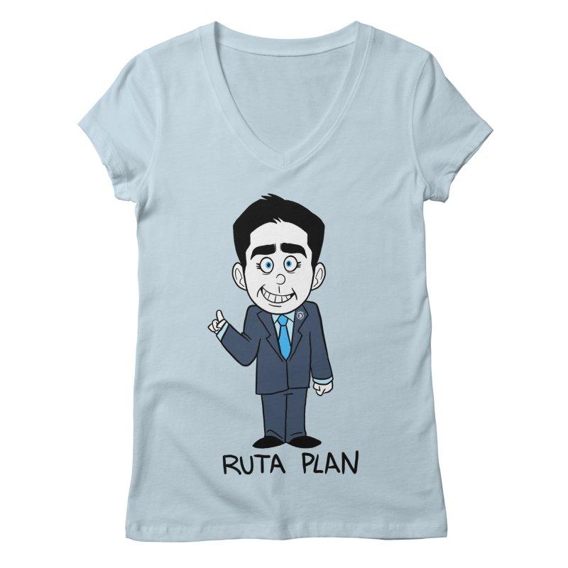 RUTA PLAN Women's Regular V-Neck by Tripleta Gourmet Clothing