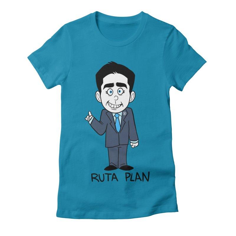 RUTA PLAN Women's Fitted T-Shirt by Tripleta Studio Shop