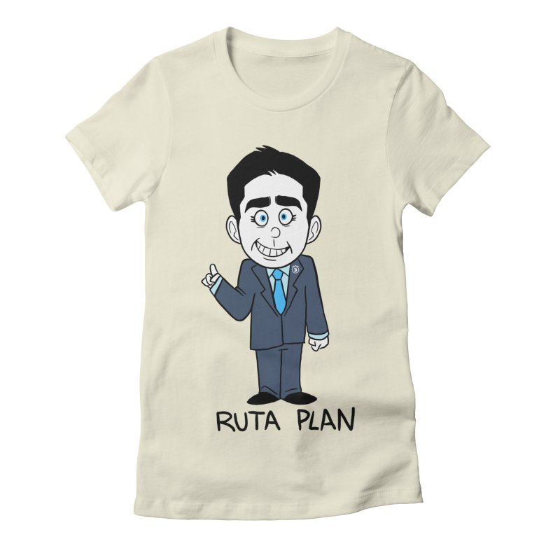 RUTA PLAN Women's Fitted T-Shirt by Tripleta Studio Shop