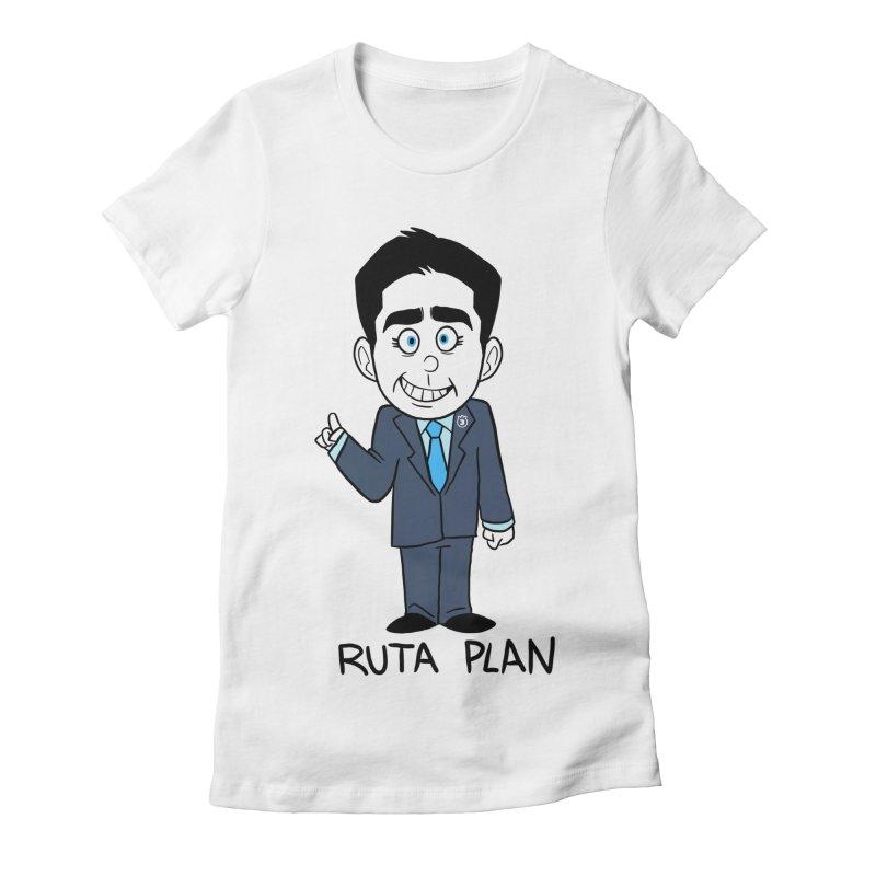 RUTA PLAN Women's Fitted T-Shirt by Tripleta Gourmet Clothing