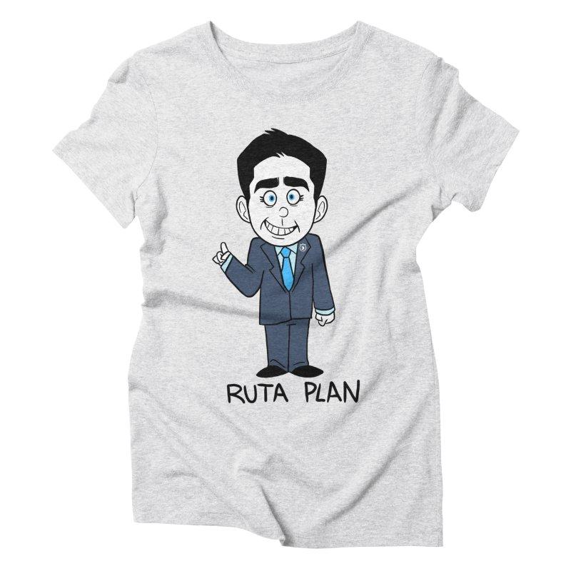RUTA PLAN Women's Triblend T-Shirt by Tripleta Studio Shop