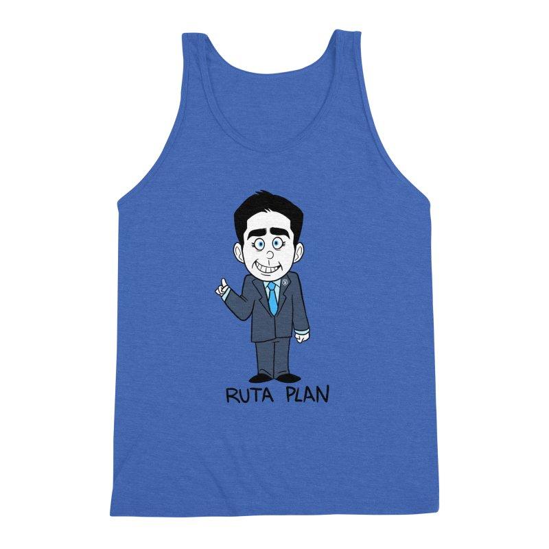 RUTA PLAN Men's Triblend Tank by Tripleta Studio Shop