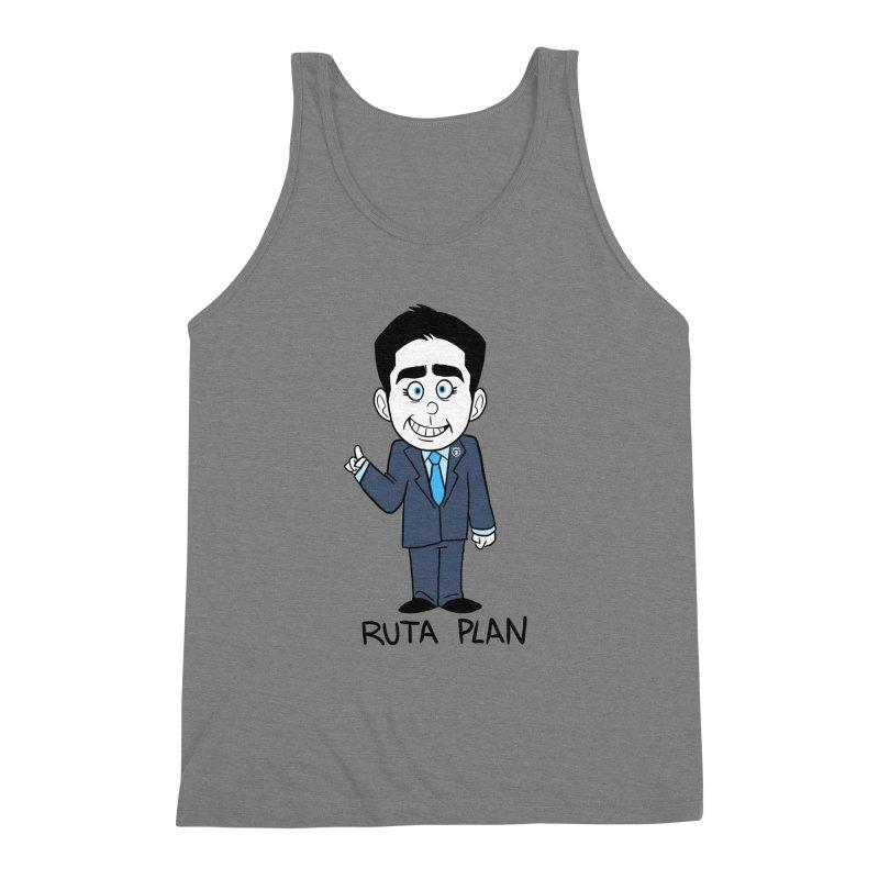 RUTA PLAN Men's Triblend Tank by Tripleta Gourmet Clothing