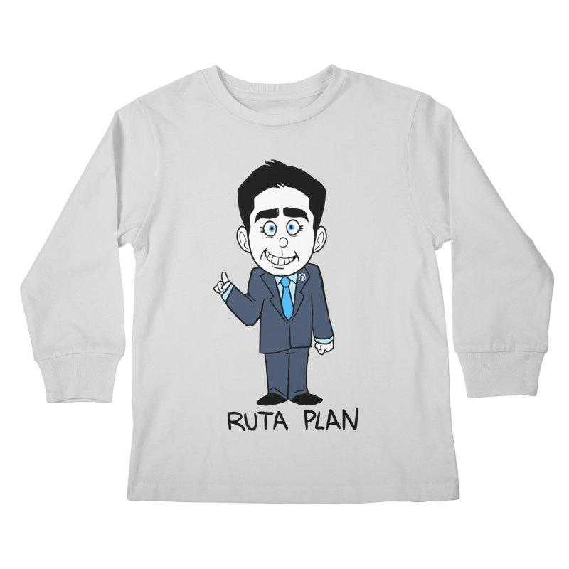 RUTA PLAN Kids Longsleeve T-Shirt by Tripleta Studio Shop