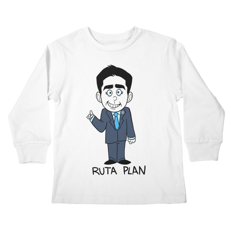 RUTA PLAN Kids Longsleeve T-Shirt by Tripleta Studio Shop