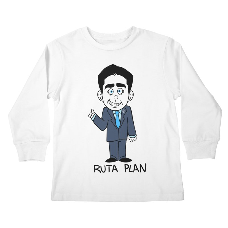 RUTA PLAN Kids Longsleeve T-Shirt by Tripleta Gourmet Clothing