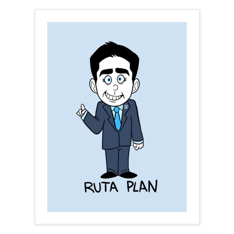 RUTA PLAN Home Fine Art Print by Tripleta Studio Shop