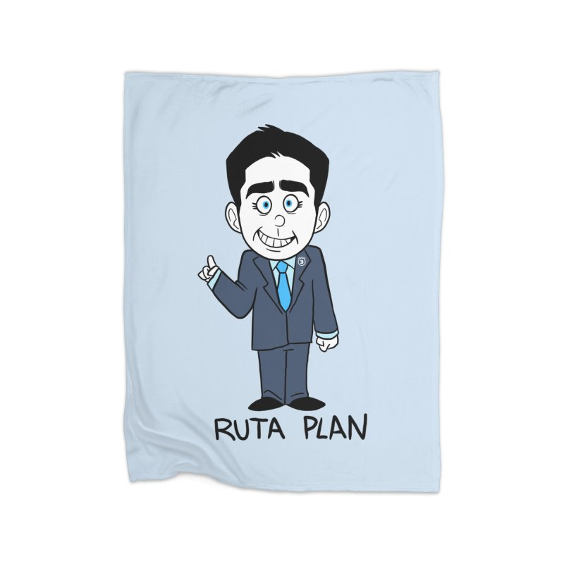 RUTA PLAN Home Fleece Blanket Blanket by Tripleta Studio Shop