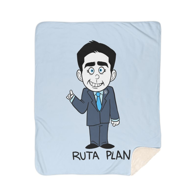 RUTA PLAN Home Sherpa Blanket Blanket by Tripleta Studio Shop